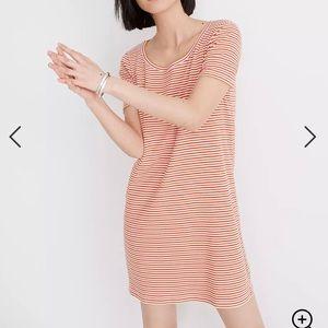 Striped Madewell Swingy Tee Dress - XS
